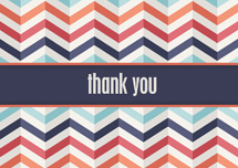 Zig Zag Thanks Thank You Cards